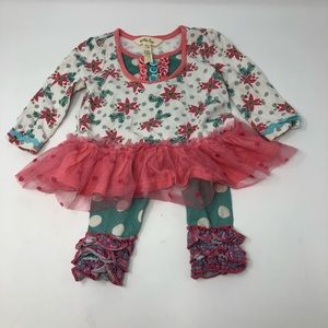 Matilda Jane Christmas Outfit baby girl 3-6 months